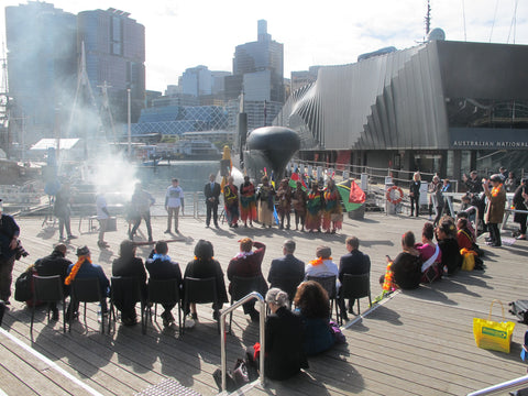 sea museum sydney 25th anniversary of assi commonwealth recognition flag raising