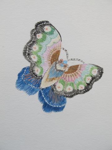 sample drawing satin stitch butterfly embroidery guild collection diamond jubilee