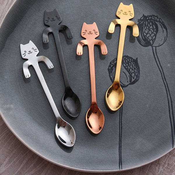 Cute Cat Coffee Spoon