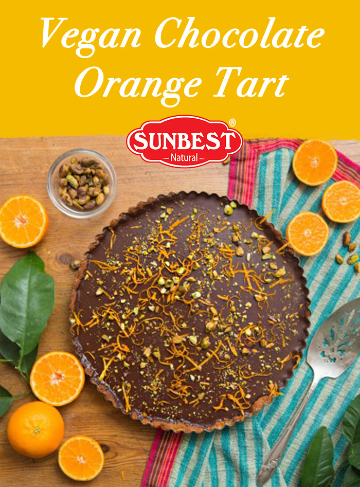 Vegan Chocolate Orange Tart