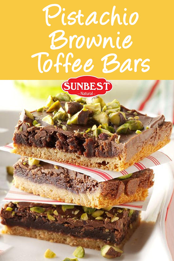 Pistachio Brownie Toffee Bar Recipe