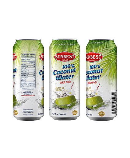 Pure Coconut Water, With Pulp, 16.9 Ounce (Pack of 12)