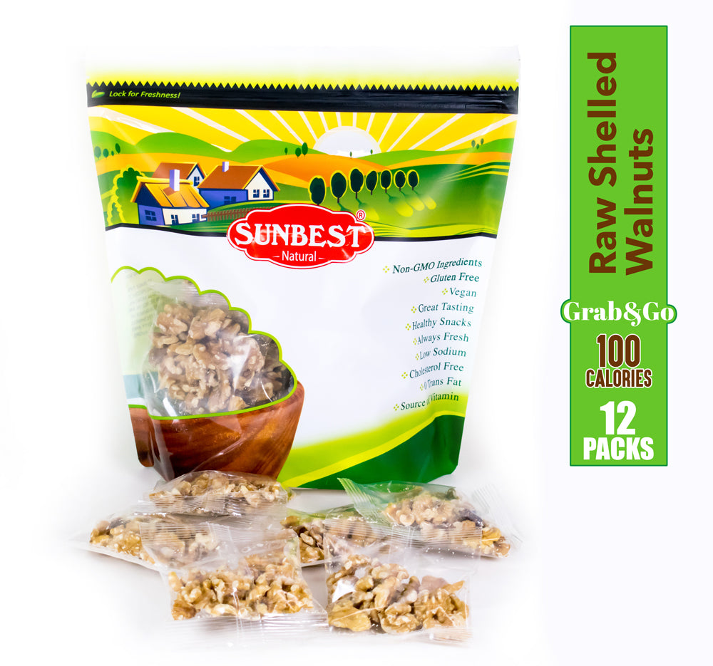 Walnuts Raw Whole 100 Calories 12 Packs
