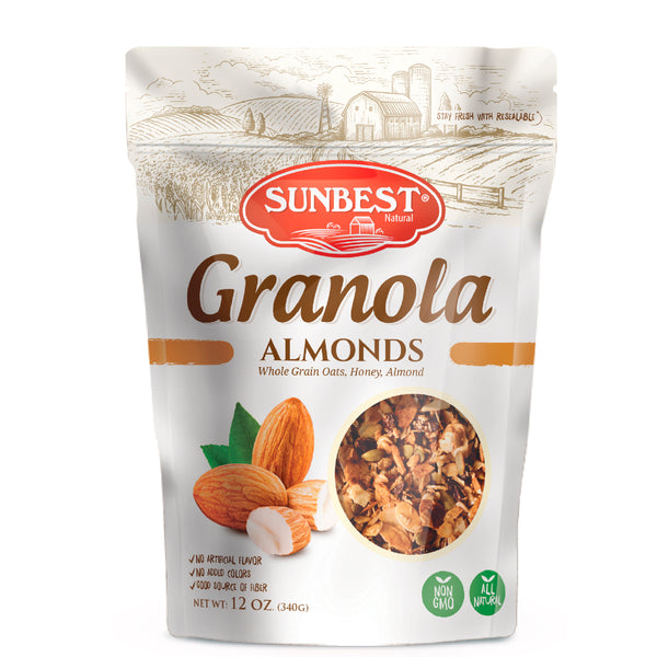 Sunbest Natural Granola Almonds 12oz in Resealable Bag