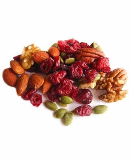 Omega 3 Mix (Raw Pecans, Walnuts Halves and Pieces, Almonds, Pumpkin Seeds, and Cranberries) (Unsalted)