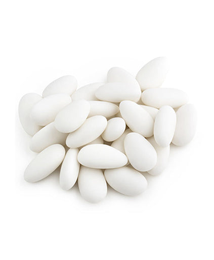 Jordan Almonds (  White,Jumbo Size,)
