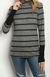 Cowl Neck Stripe Sweater