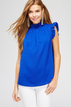 Ruffled Neckline Top