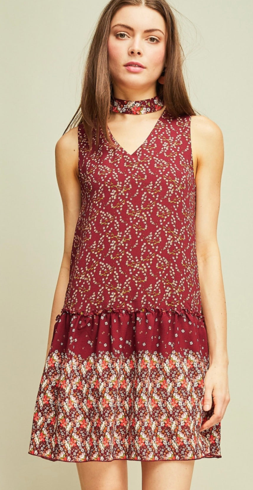 Printed Textured Shift Dress