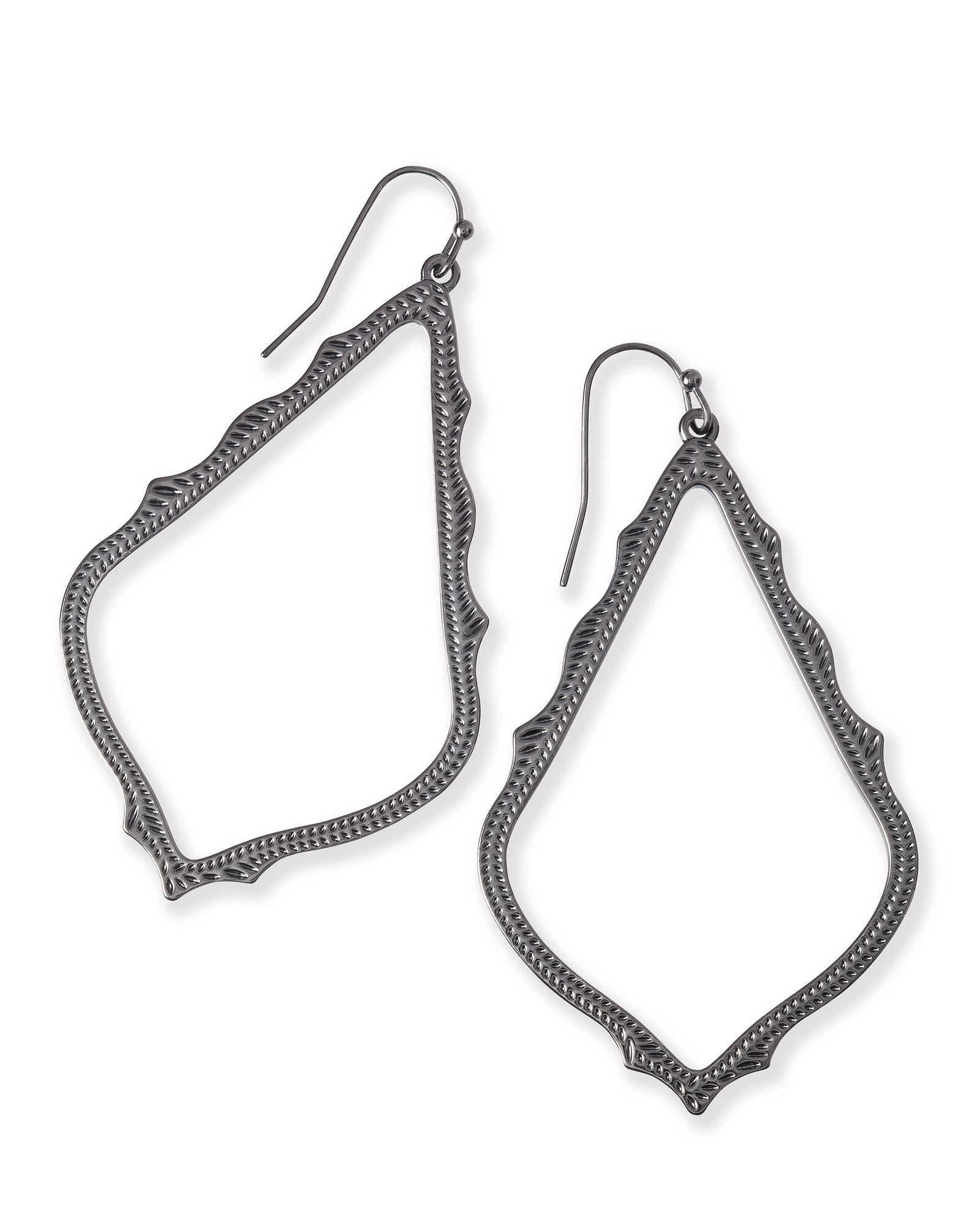Sophee Drop Earrings In Gunmetal