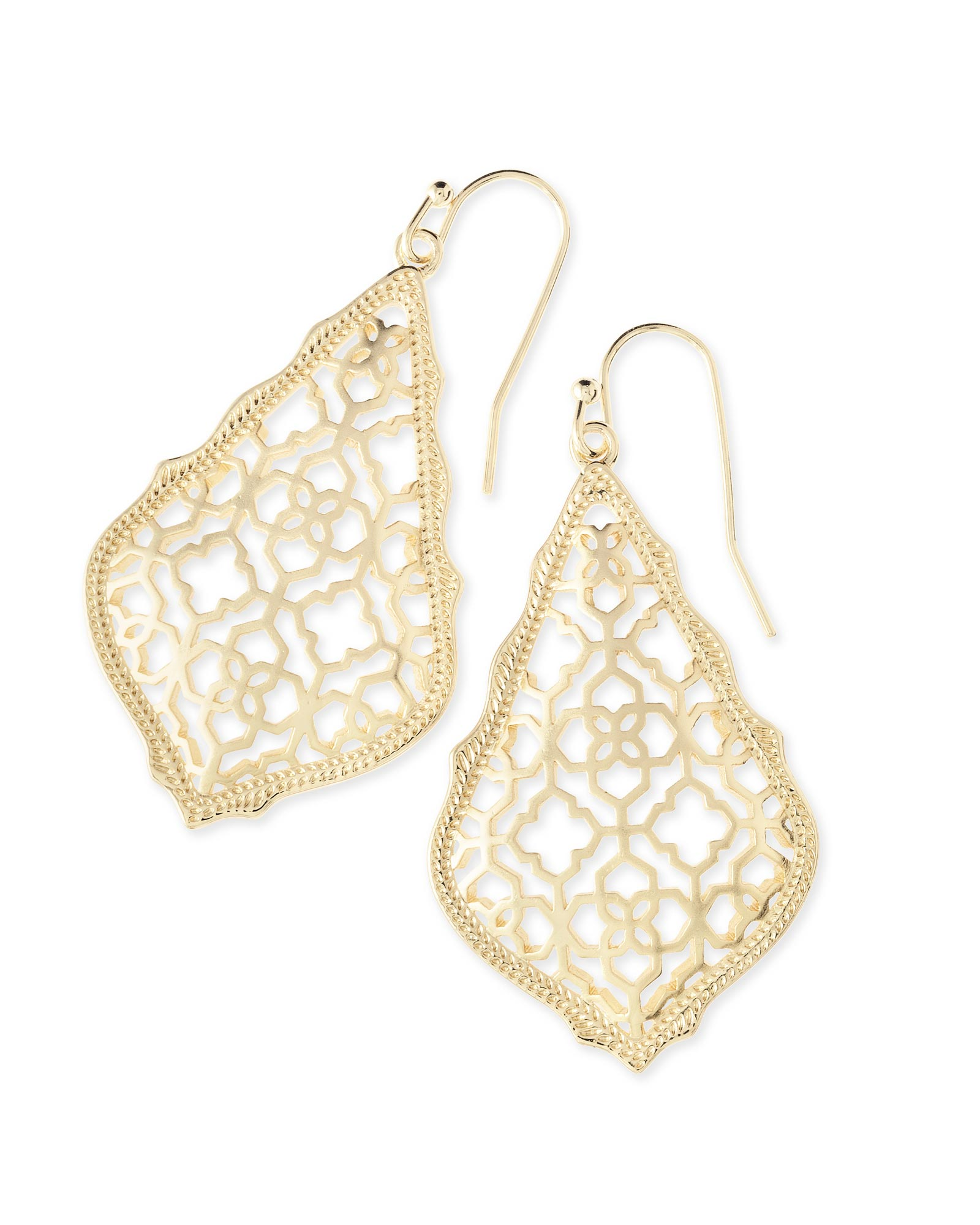 Adair Drop Earrings in Gold Filigree Mix