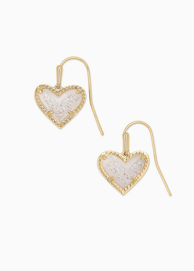 Ari Heart Gold Drop Earrings In Gold
