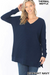 Brushed Thermal V-Neck Sweater