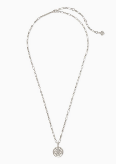 Dira Coin Pendant Necklace in Silver