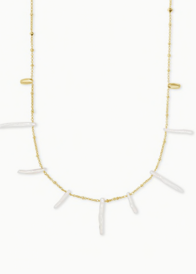 Eileen Long Strand Necklace in Gold