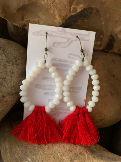 Pearls & Ponies Tassel Earrings