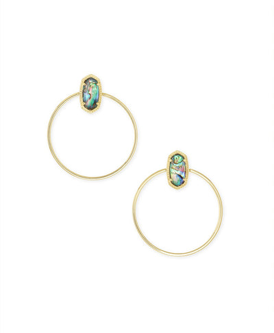 Mayra Open Frame Earring in Gold