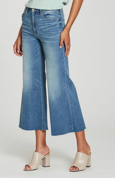 Dear John Wide Leg Cropped Denim