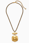 Kaia Long Pendant Necklace in Vintage Gold