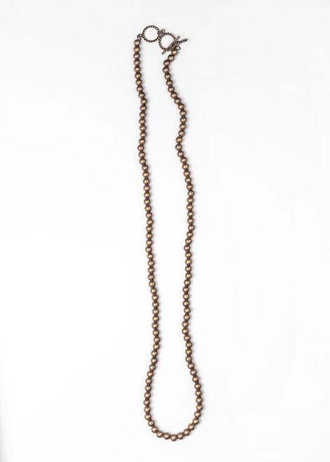 Bronze Gold Bead Necklace