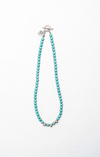Single Strand Mini Turquoise Necklace wtih Silver Accent