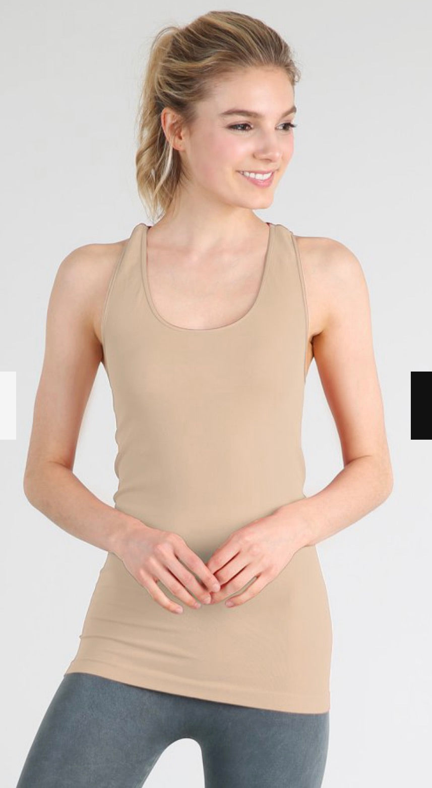 Plain Jersey Racer Back Camisole