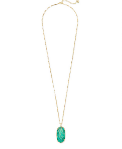 Faceted Reid Long Pendant Necklace in Gold