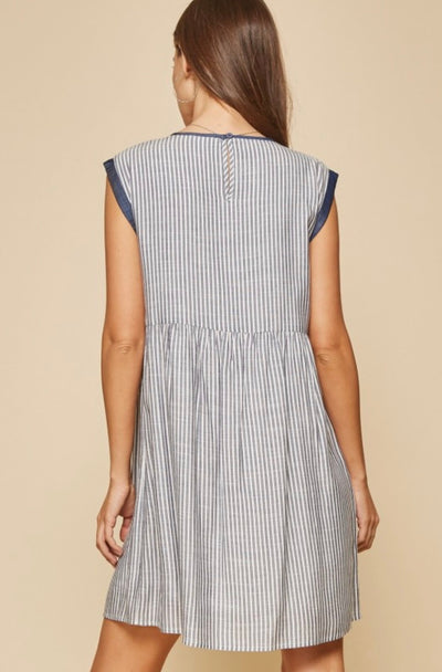 Fiesta Navy Striped Dress