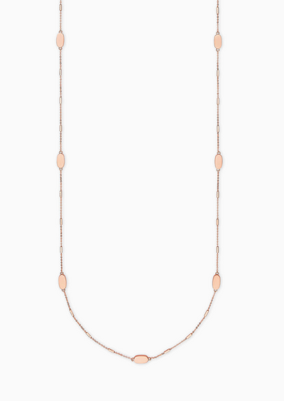 Franklin Long Necklace In Rose Gold