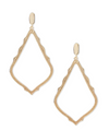 Sophee Clip Drop Earrings in Gold