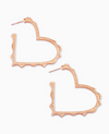 Sophee Heart Hoop Earrings In Rose Gold