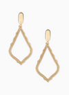 Sophia Clip Drop Earrings in Gold