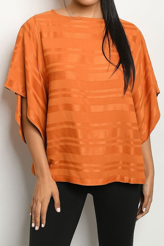 Burnt Orange Tunic Top