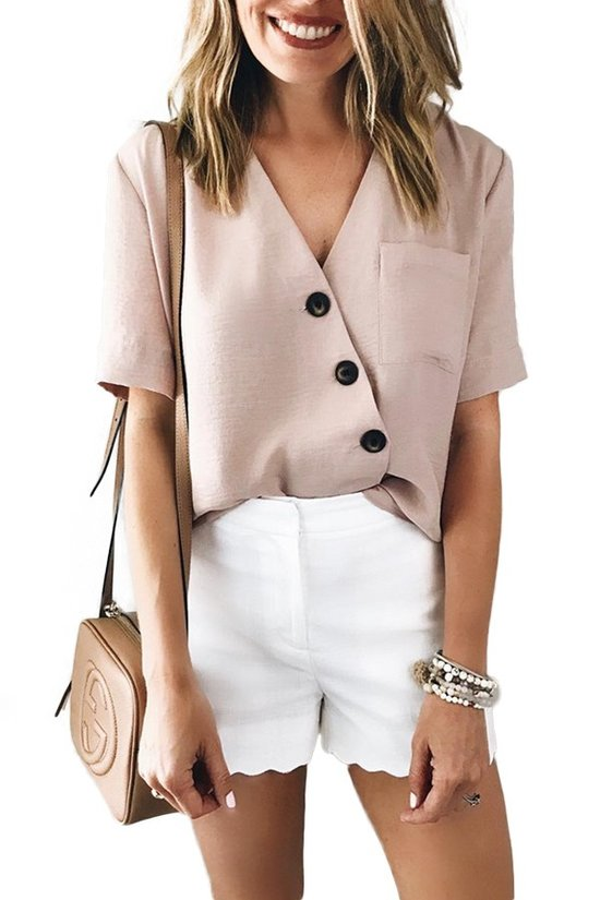 Casual Button Down Top