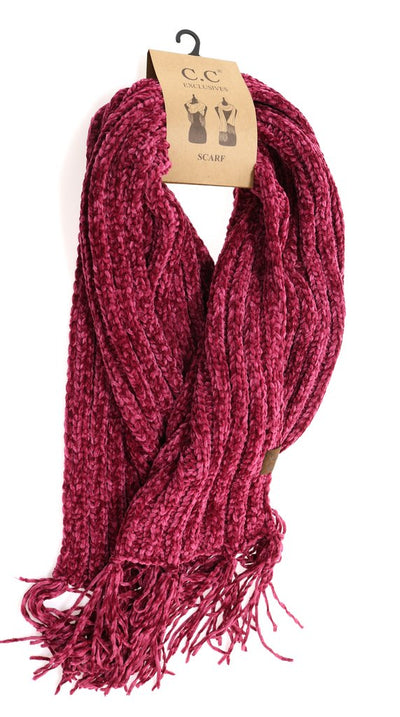 C. C. Beanie Ribbed Chenille Scarf