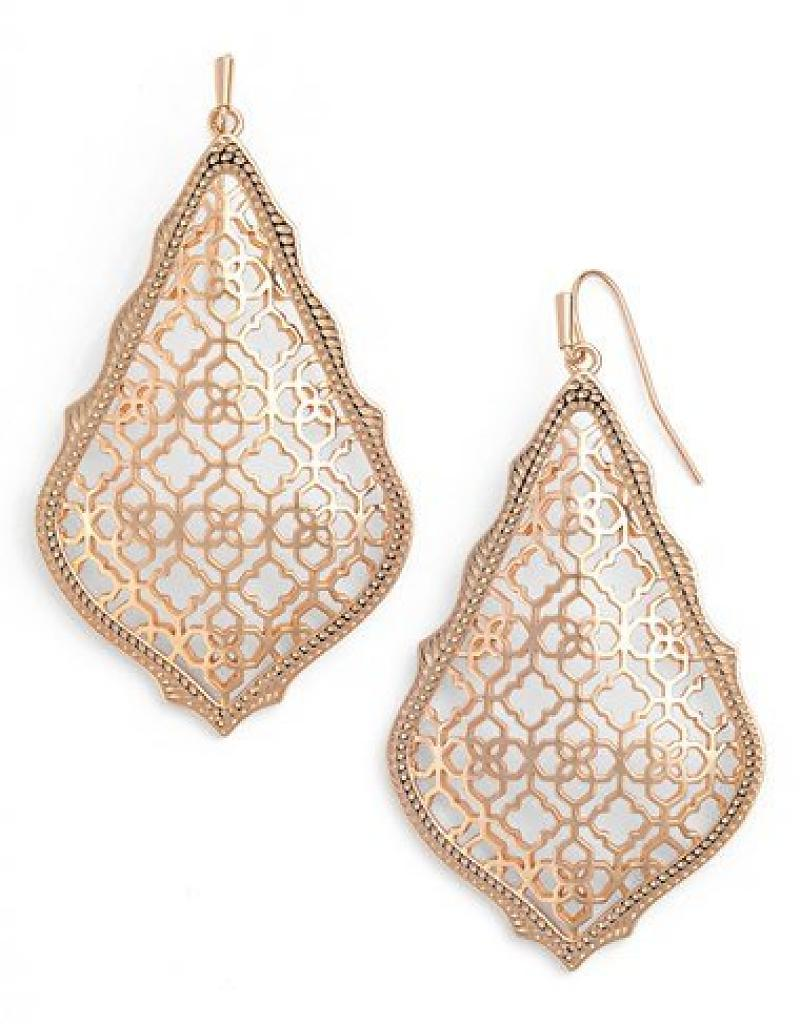 Adair Drop Earrings in Rose Gold