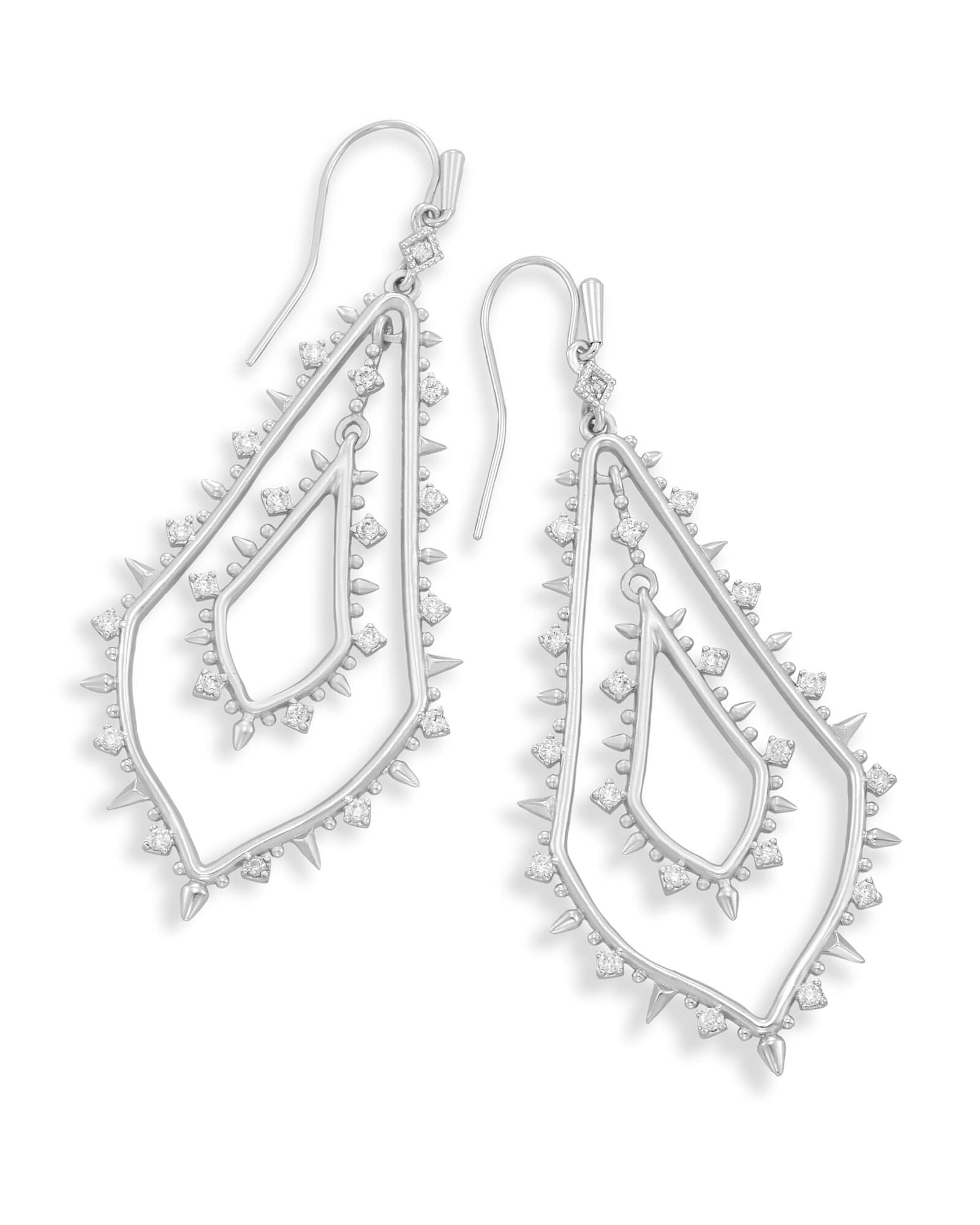 Alice Statement Earrings In Silver