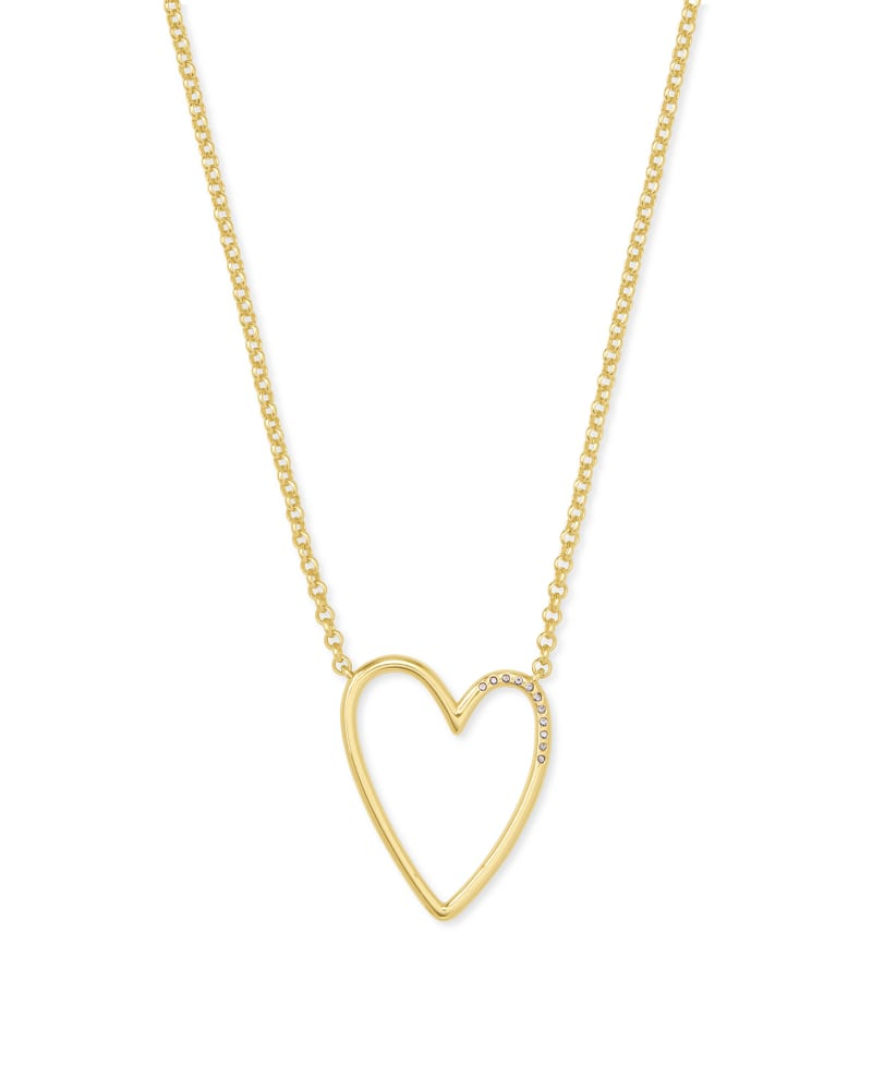 Ansley Heart Necklace in Gold