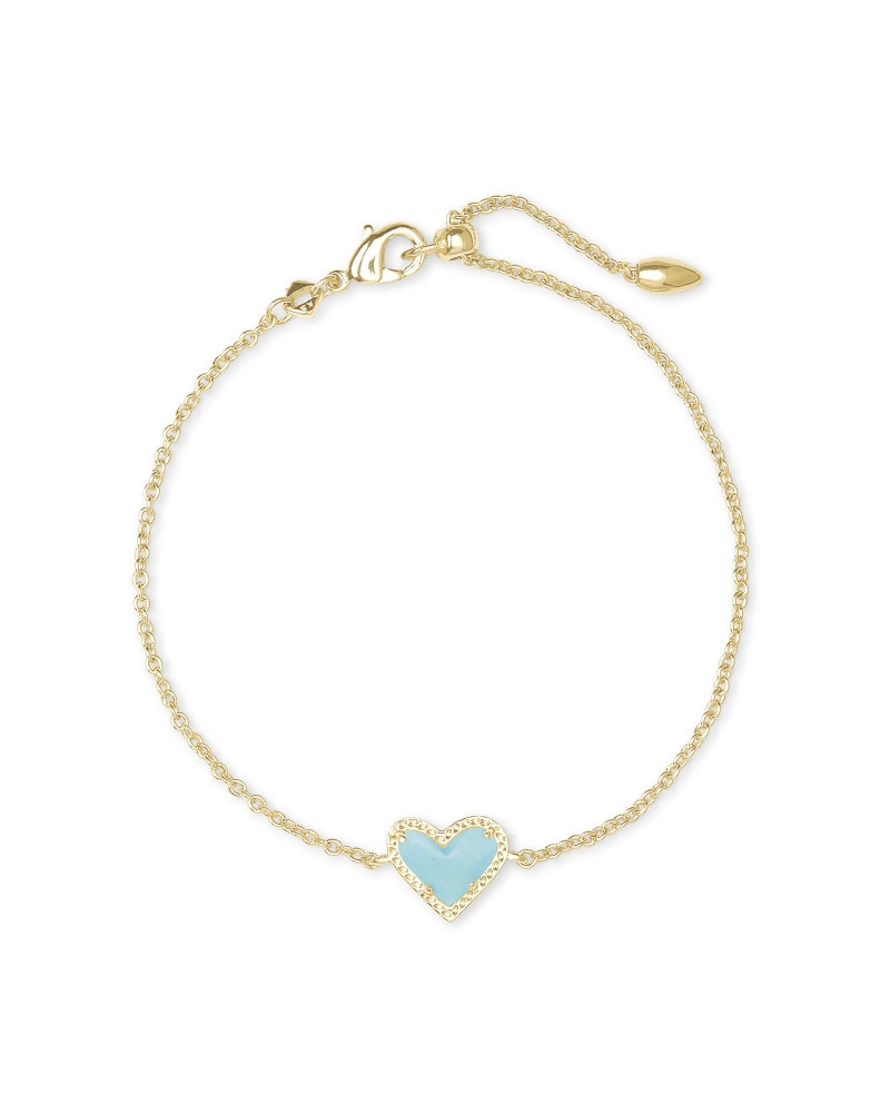 Ari Heart Bracelet in Gold