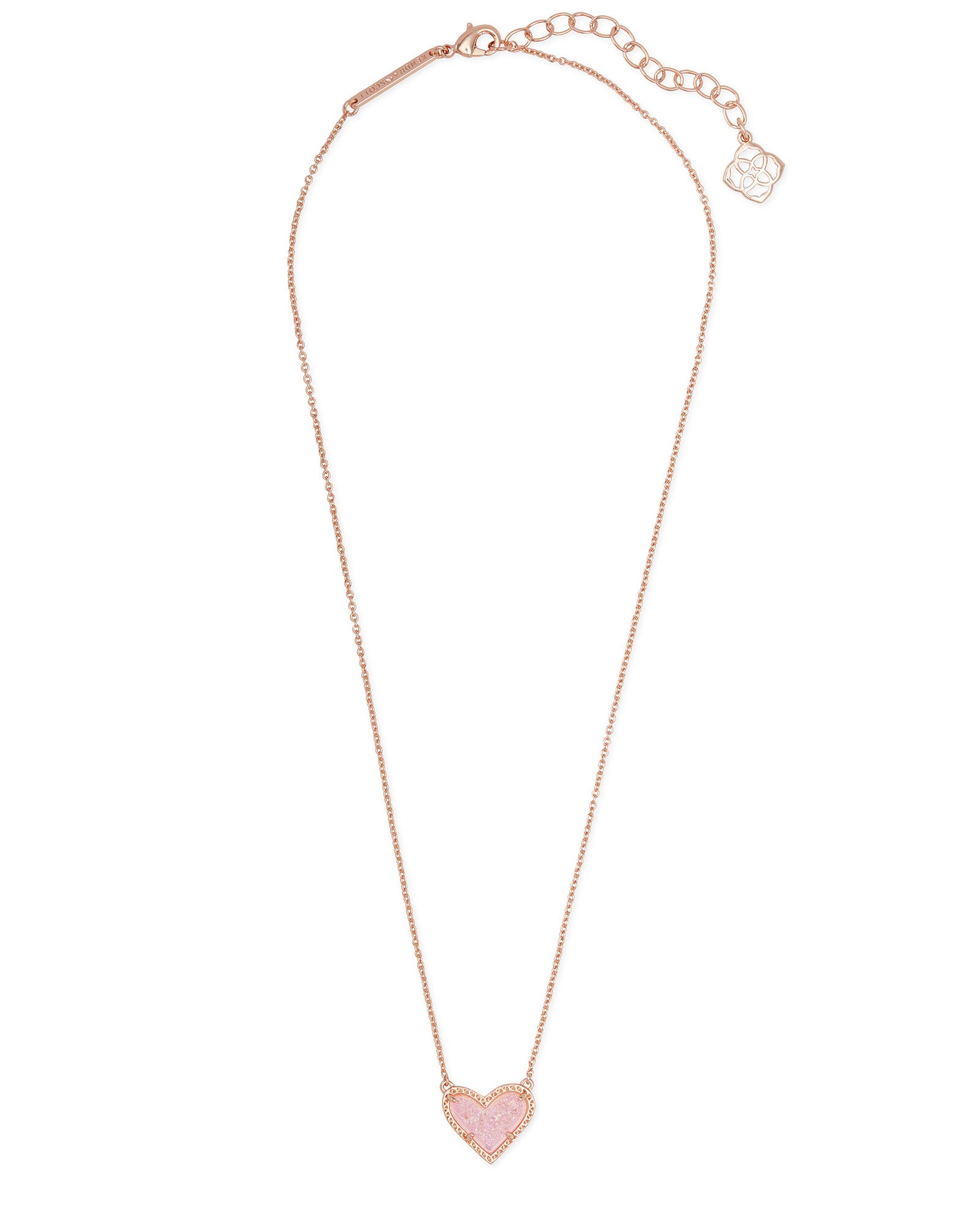 Ari Heart Short Necklace in Rose Gold