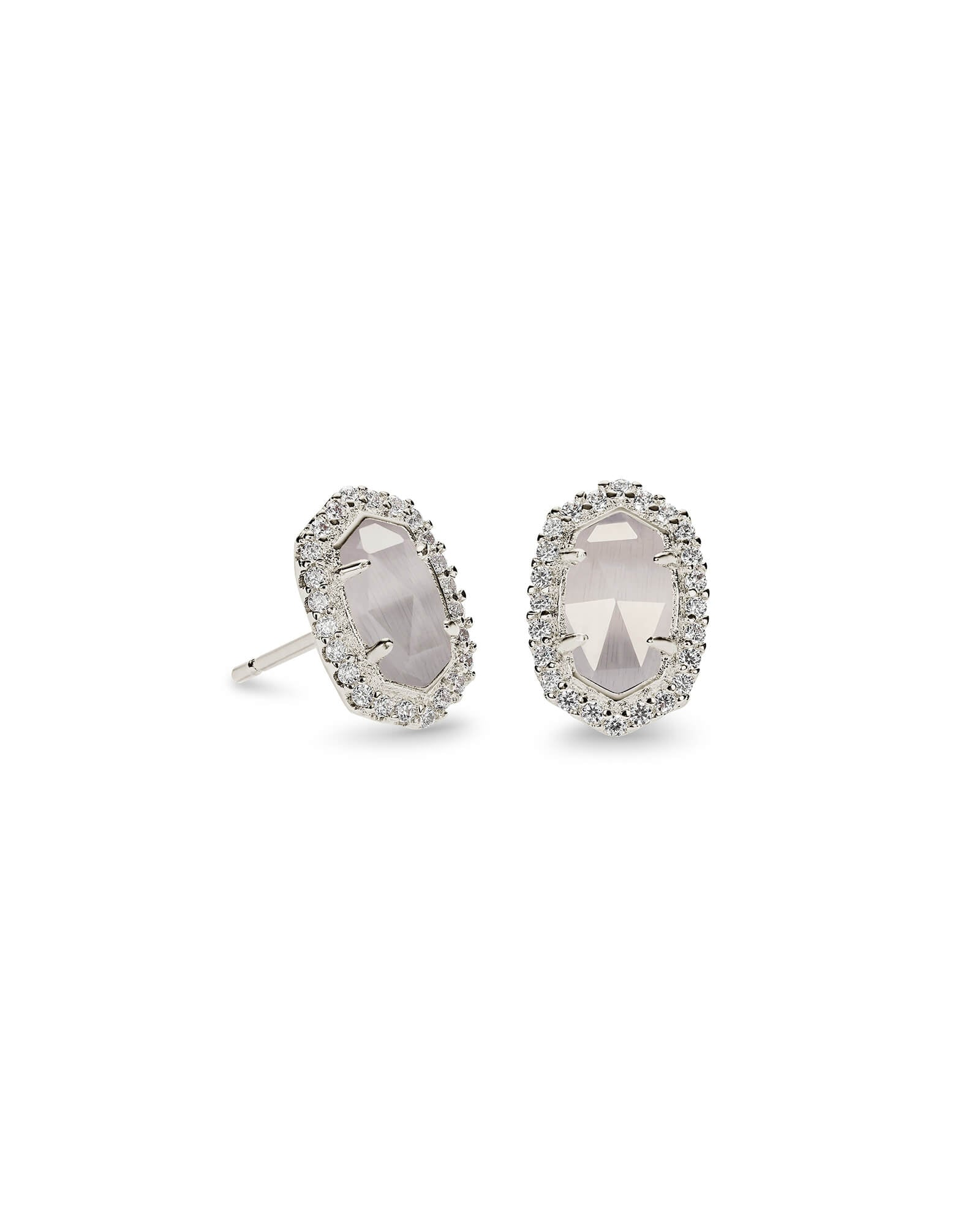 Cade Silver Stud Earrings