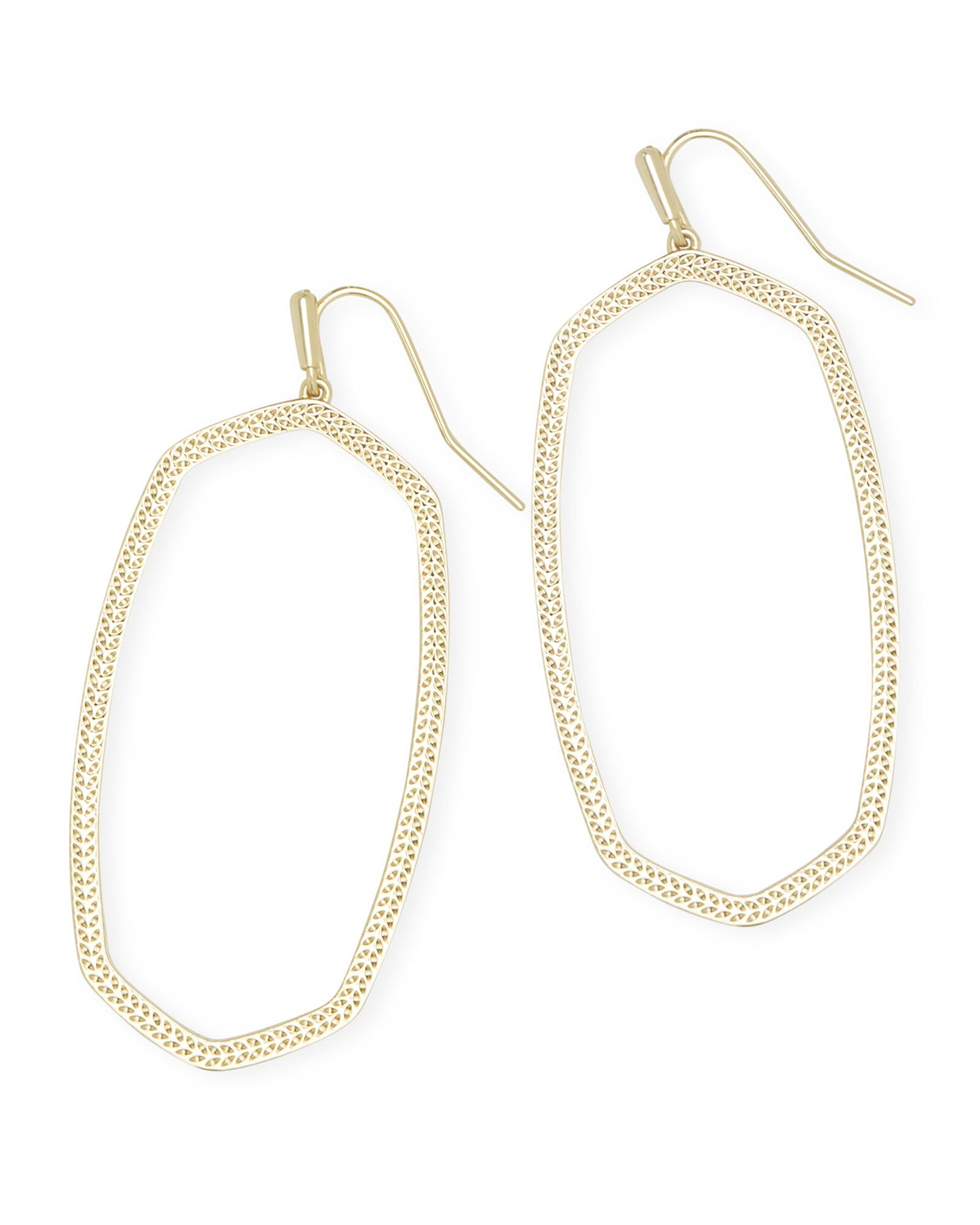 Danielle Open Frame Earring in Gold