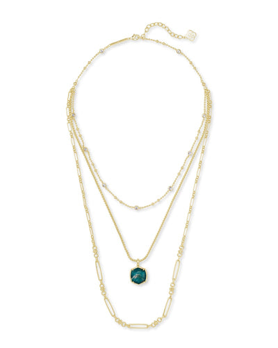 Davis Triple Strand Necklace in Gold