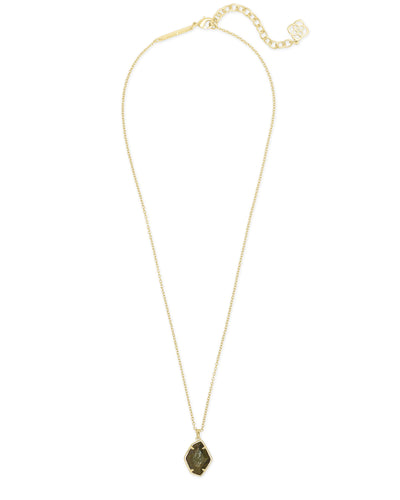 Ellington Short Pendant Necklace in Gold