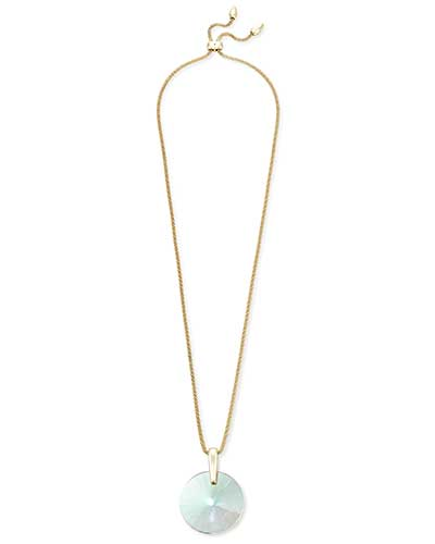 Jolie Long Pendant Necklace in Gold