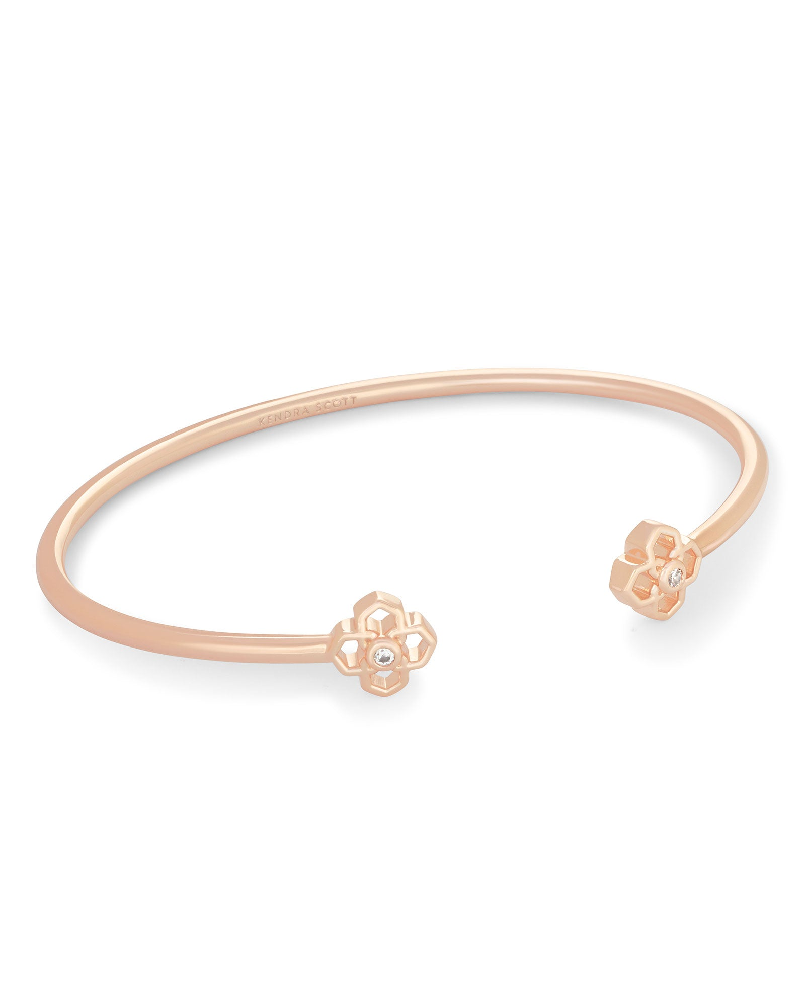 Rue Pinch Cuff Bracelet in Rose Gold