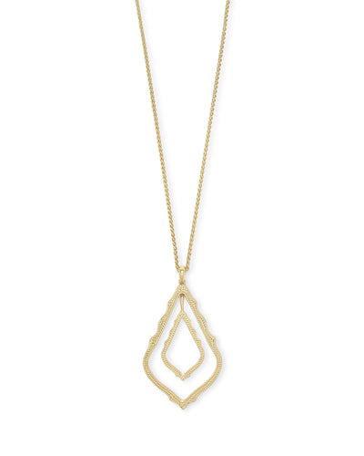 Simon Long Necklace in Gold Metal