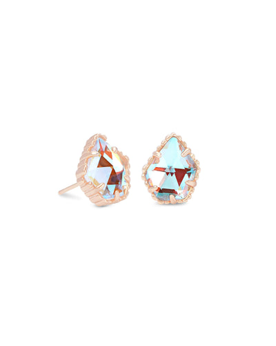 Tessa Stud Earrings in Rose Gold
