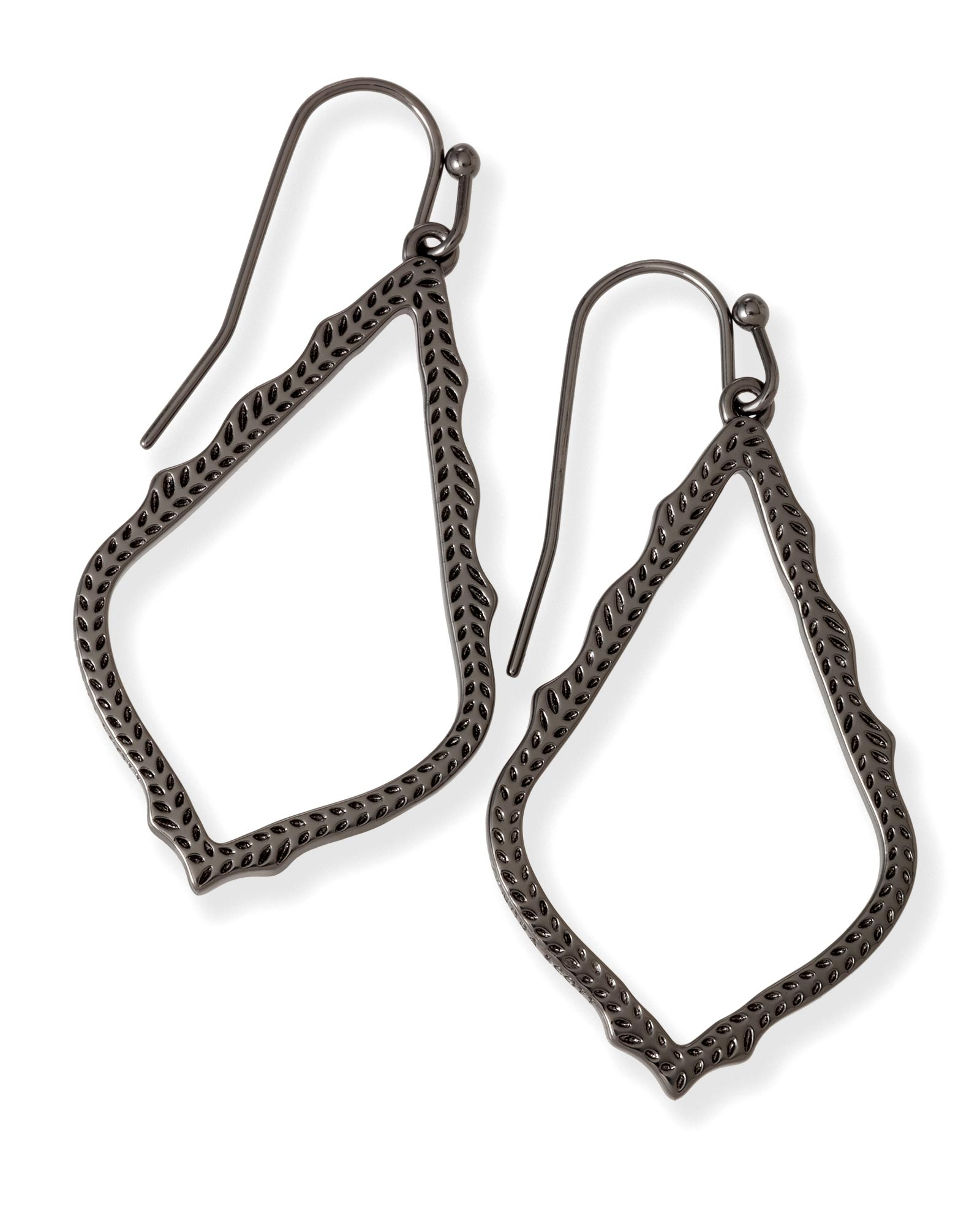 Sophia Drop Earrings In Gunmetal