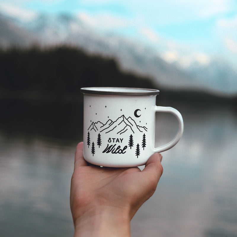 Stay Wild Personalized Name Camping Mug